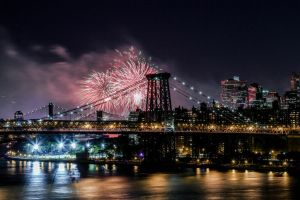 Macy's Fireworks as seen from Brooklyn by nolanzphotography