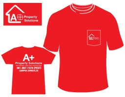 Aplus Property Solutions T-Shirt Design by louVVis
