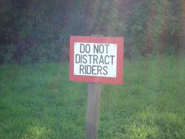 DO NOT DISTRACT RIDERS by Renire-Stock