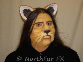 Cowardly Lion Face by NorthFurFX