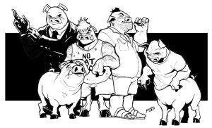 Pigs by Mumah
