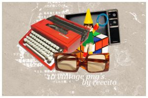 10 Vintage PNG's by reecito