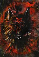 ACEO WhiteSpiritWolf ::HELL:: by WolfRoad