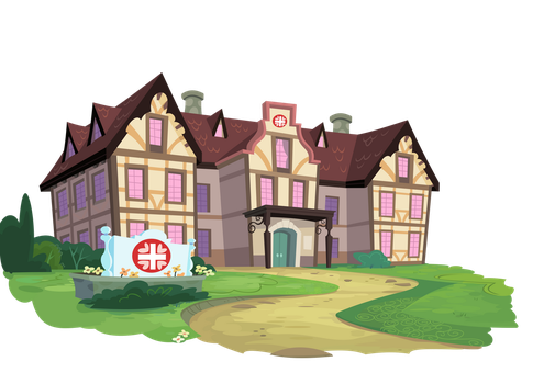 Ponyville Hospital by HornFlakes