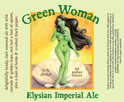 Green Woman Ale Label by vanilla-vanilla