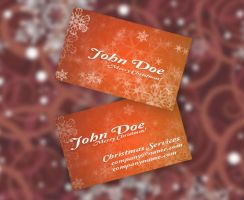Christmas Business Card by Freshbusinesscards