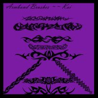 Armband Brushes::::: Set 2 by KaiPrincess