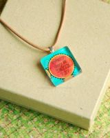 Eco Message Glass Pendant by BoutiqueVintage72