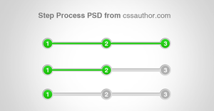 Awesome Step Process UI Element PSD for Free by cssauthor