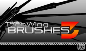Tech Wing Brushes 3 by MrDraftsman