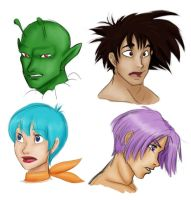 More DBZ sketches by LadyFoxill