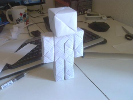 Origami Steve (Minecraft Guy) by Nakwada