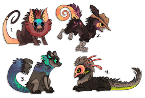Designs for sale to help out friend! SOLD by griffsnuff