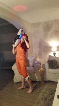 Portal 1 Chell cosplay(2) by Dr-Bowman