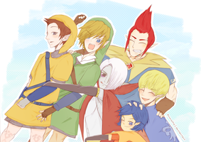 LoZ boys hugging :D by Primosha