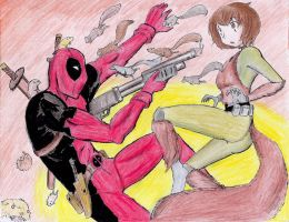 Deadpool vs Squirrel Girl: Rodent Wars by hewhowalksdeath