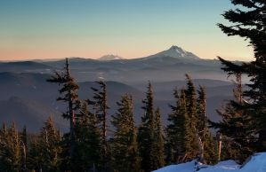 Cascades from Mount Hood by CezarMart