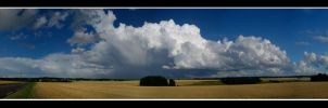 Panoramic storm by dustdevil