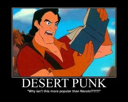 Gaston Reads Desert Punk by LivingShadowDarkMark