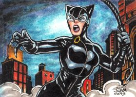 CATWOMAN _DC woman of legend AP card by JASONS21