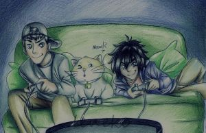 Day 5: Playing with Mochi by leneko