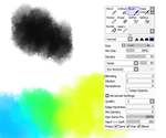 Noise brush and brush settings for PaintTool SAI by M42NGC1976