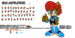 Sally Acorn Advance Revamp Sprites by Tales499