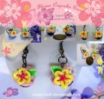 Spring Flower Cupcake Earrings by SoapyFresh