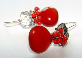 Cherry Drop Earrings by CrysallisCreations