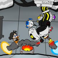 Boss Battles: Chell vs. GLaDOS by tjg-12345