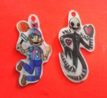 Balloon Boy and Marionette Charms by BrokenWingsOfLight