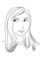 Self-Portrait Line Art by Khorin