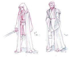 Revenge of the sith sketches by martinacecilia