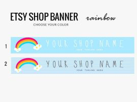 Etsy Banner- Rainbow by candypow