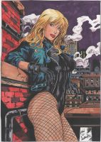 BLACK CANARY pencil by Leandro ink by Jbellcomics by cgbutler