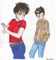 Videl and Gohan by mmcfacialhair