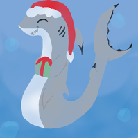 Holiday Shark by ToxicSerpent
