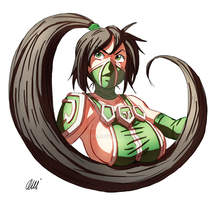 League of Legends - Akali by oNichaN-xD