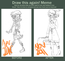 Draw this again meme by FucshiaWillow