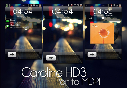 Caroline HD3 MIUI Lockscreen- Port to MDPI by Caseyls