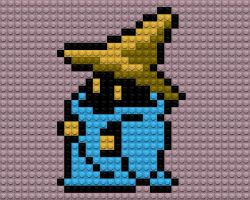 Final Fantasy Black Mage Lego by drsparc