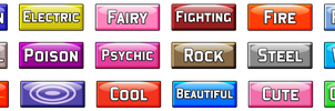 Pokemon Type Buttons- Free to use! by GeneralGibby