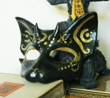 Unique Horned Cat Mask by nondecaf