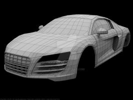 audi R8 V10 WIP002 wires by Pisci