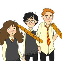 The baguette chooses the wizard Mr Potter by blackxmath