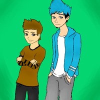mordecai and rigby human form by xXxoreoxXx