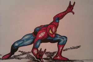 Spider-man (colour version) by DustyPaintbrush