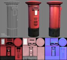 3D - Post Box by raykitshum