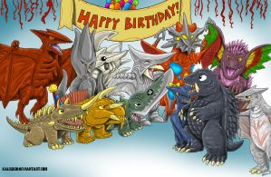Birthday Party For A Great Old Turtle, Commission by kaijukid