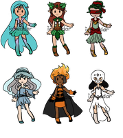 Mythic Halloween Senshi Adopt Set: CLOSED by iCheddar